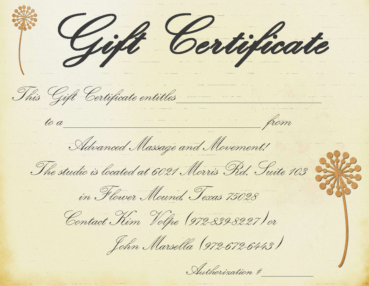 Pics Photos - Massage Gift Certificate Template Free Printable